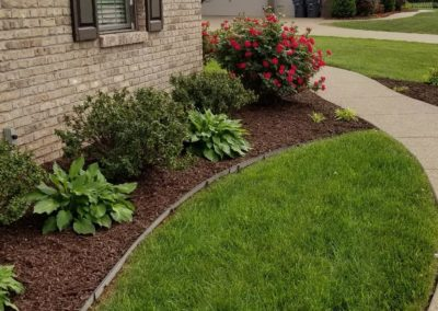 flowers and mulch beds 22