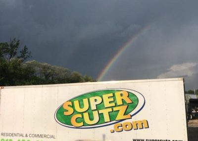 rainbow with trailer